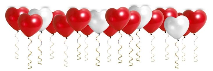 Воздушные шары ACTION! API0046/M сердечки красные/белые 100шт