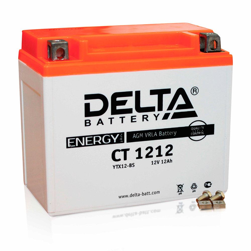 Аккумулятор для скутера, мотоцикла, квадроцикла DELTA CT1212 (YTX12-BS ) DELTA-CT1212
