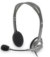 Проводные наушники Logitech Stereo Headset H110 (981-000271) с микрофоном (Silver) - фото 1