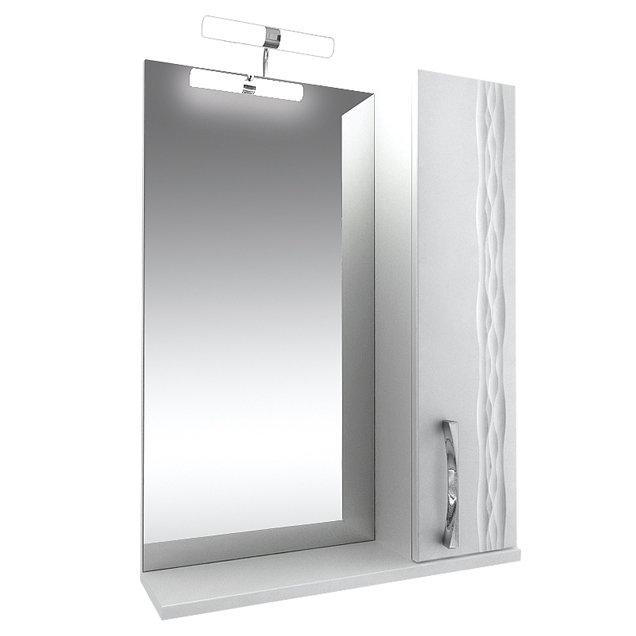 Зеркало с подсветкой 80 со шкафом справа тритон кристи 003.42.0800.101.01.01.R