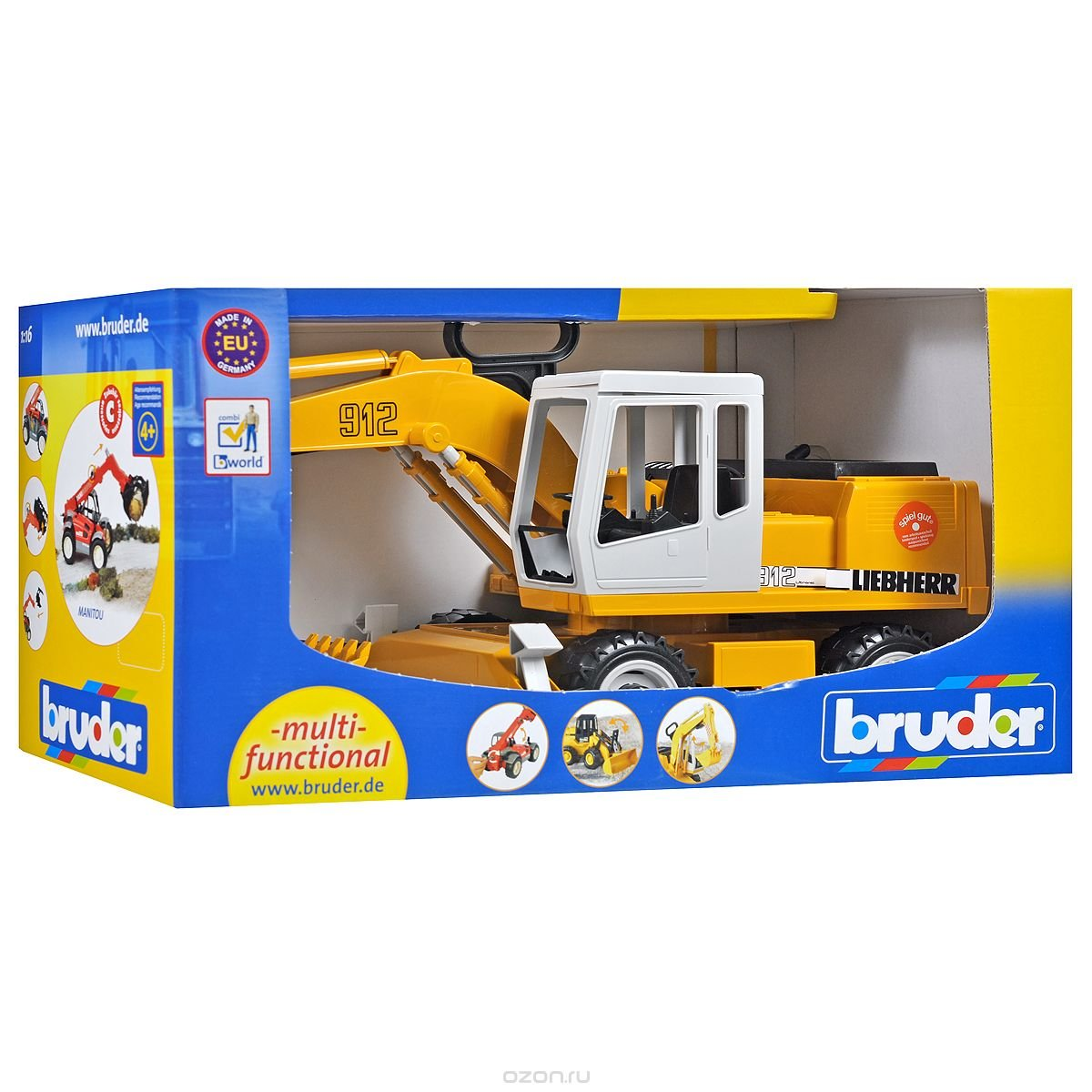 BRUDER Экскаватор колёсный Liebherr