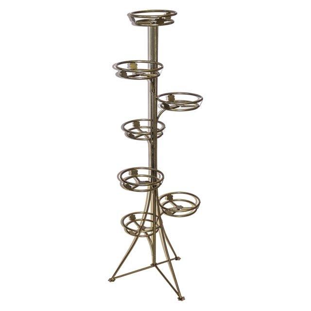 подставка для цветов Стелла на 7 горшков 53х53х141см металл