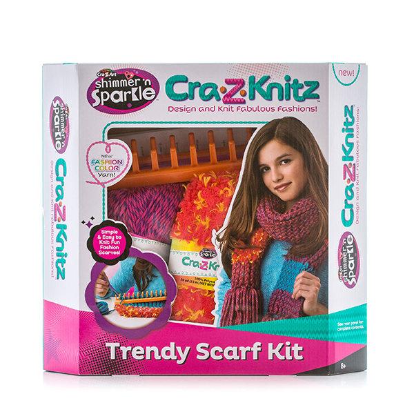 Набор Cra-Z-Knitz 17121 Крейзи Нитс Набор для вязания Шарф