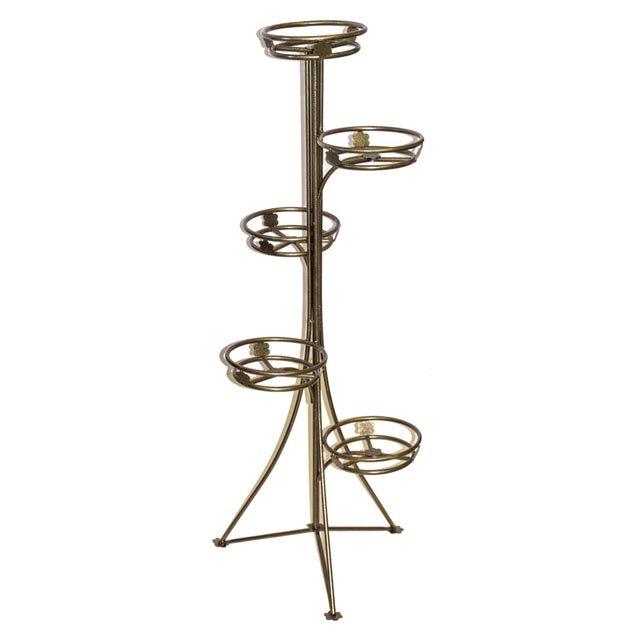 подставка для цветов Стелла на 5 горшков 52х52х121см металл