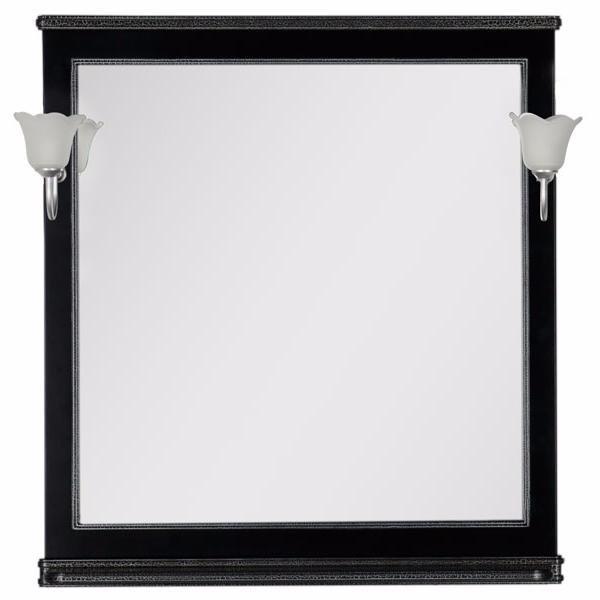 Aquanet Зеркало Валенса 90 (180140) черный кракалет/серебро
