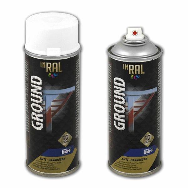 Аэрозольная антикоррозийная грунтовка по металлу Ral «ground» Inral, 400 мл Inral 26-7-2-001