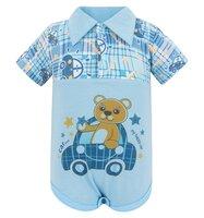 Боди Три медведя цвет: голубой, для малышей, размер 68