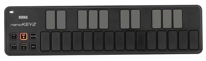 KORG NANOKEY2-BK портативный USB-MIDI-контроллер, цвет чёрный