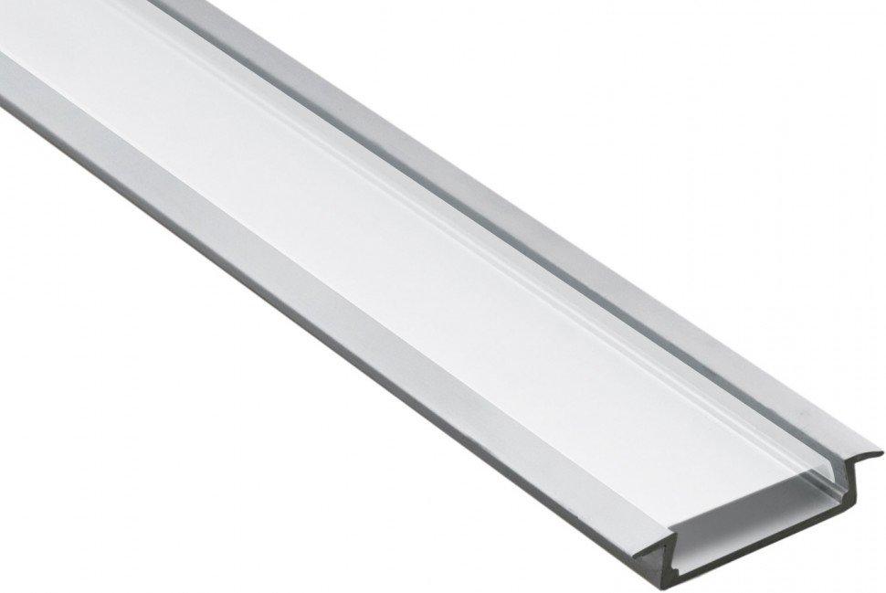 """Профиль алюминиевый Feron для светодиодной ленты CAB252 """"встраиваемый"""" широкий , серебро"""