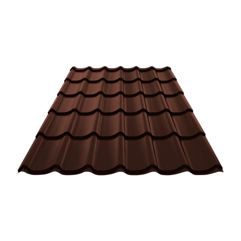 Металлочерепица (ral 8017) коричневый шоколад 1190х2250х0,4мм (2,68м2) Без тм, 165509