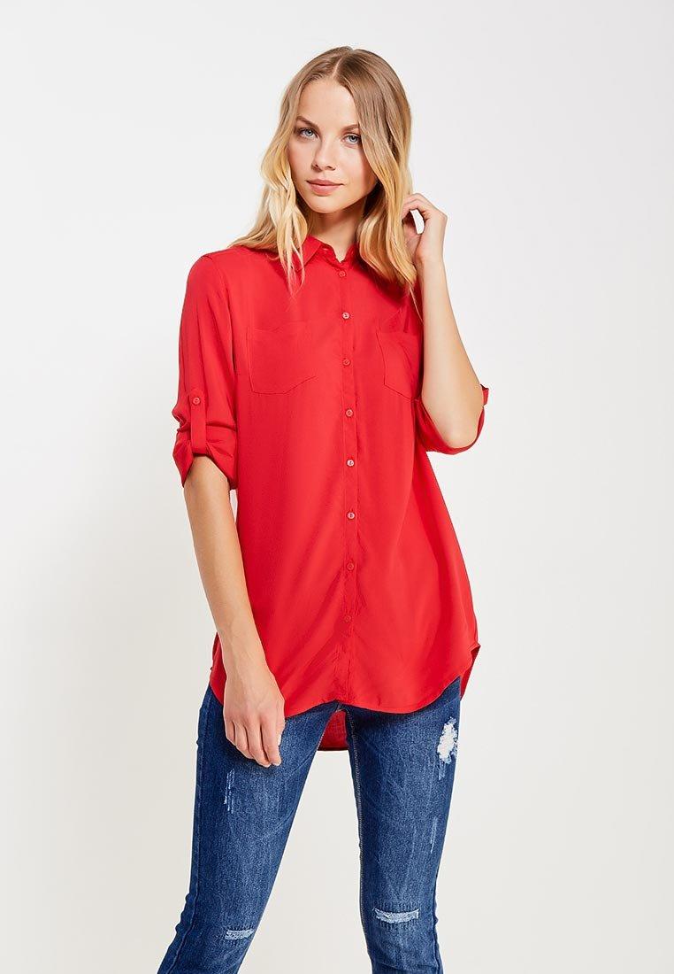 купить красную рубашку женскую