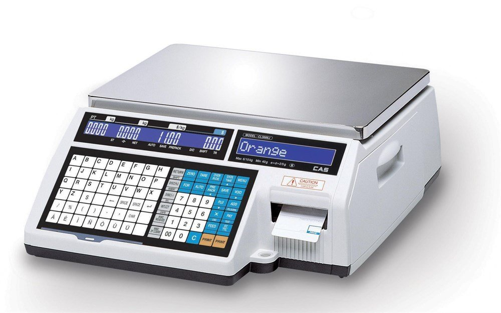 Cas Весы торговые с печатью этикеток CL5000J-30IB TCP-IP
