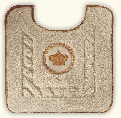 Коврик Migliore Complementi ML.COM-50.PWC.CC.24 для WC (узор 2) цвет капучино вышивка `корона` золото
