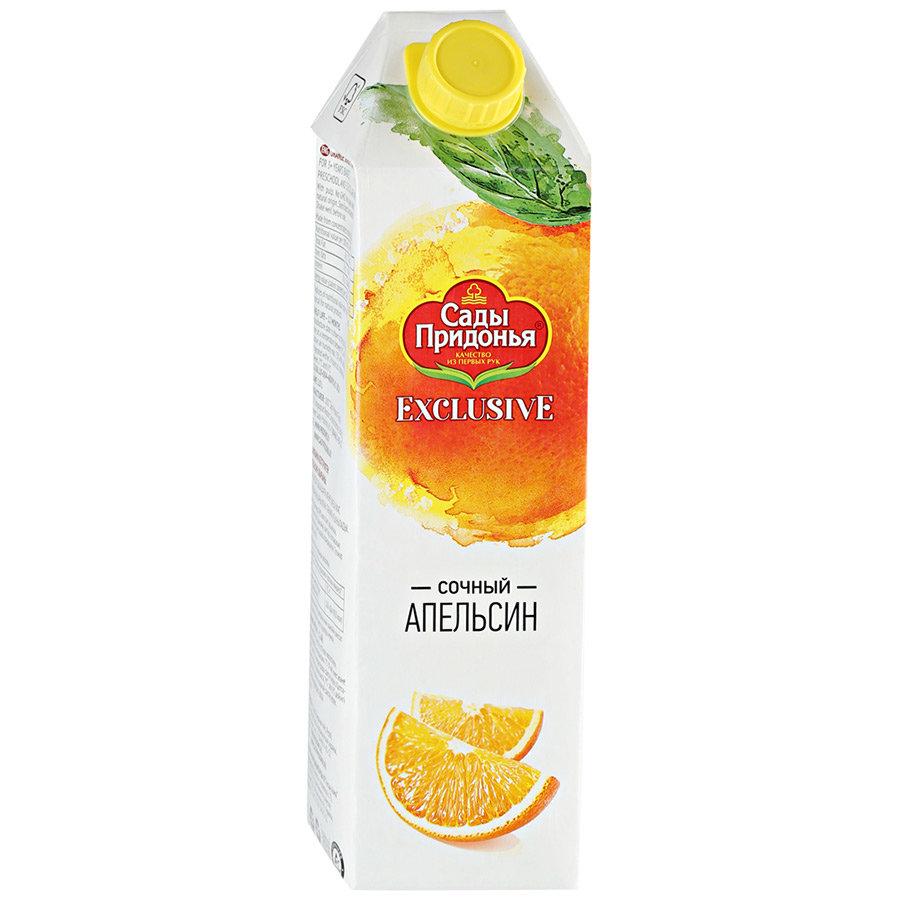 Сок Сады Придонья апельсиновый 100% без добавления сахара, 1л