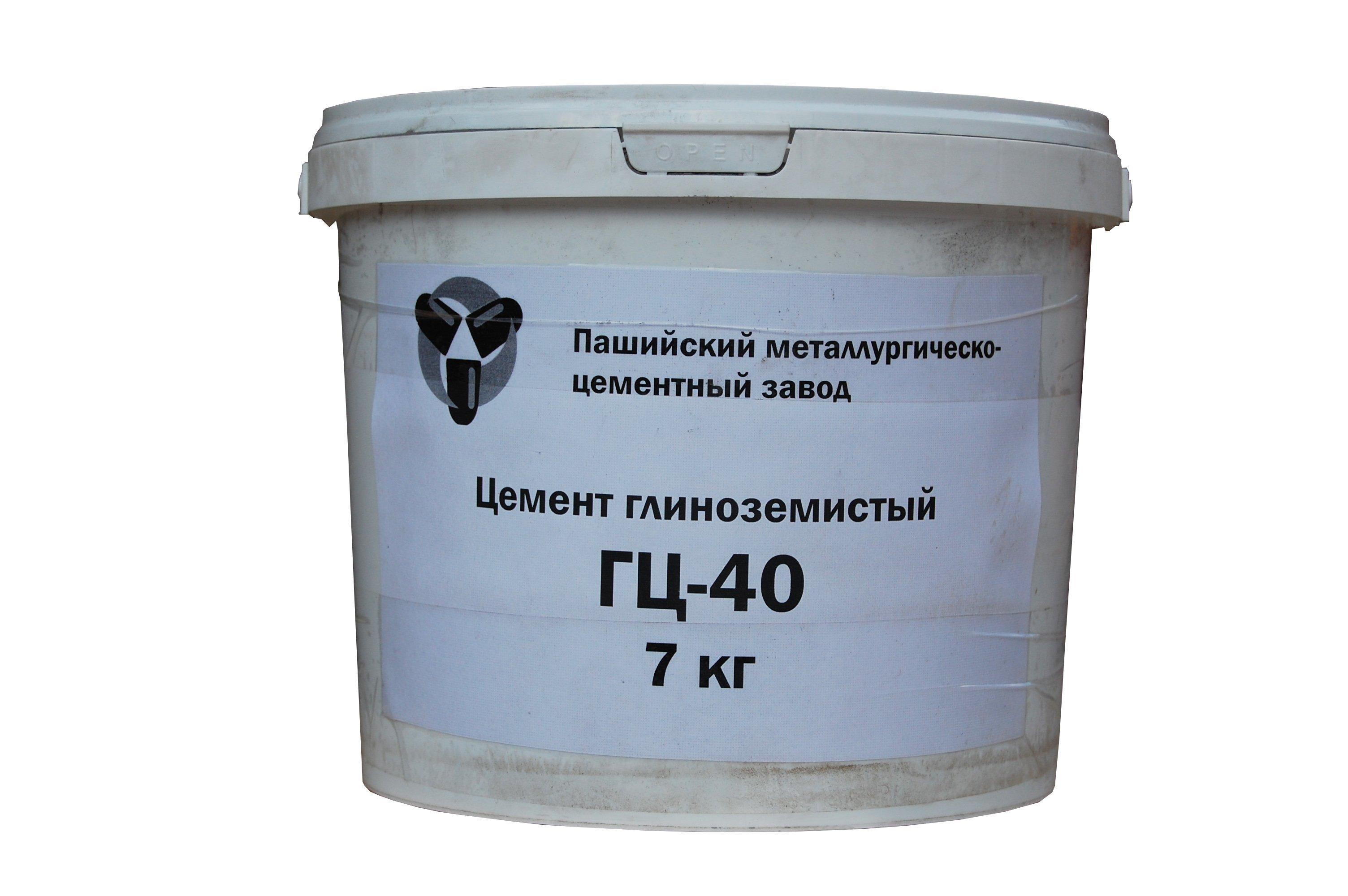 Смеси печные Пашийский металлургическо-цементный завод Цемент глиноземистый ГЦ-40, ведро (7 кг)