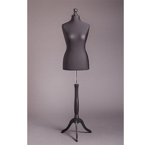 Манекен портновский женский на деревянной подставке (мягкий 44-46 р.) DR-2