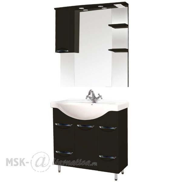 Комплект мебели для ванной SanMaria Милан 80 (раковина + тумба + зеркало)