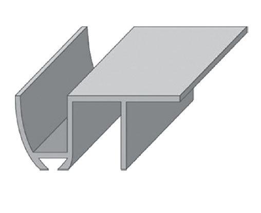 Направляющая для раздвижных дверей нижняя, длина 2м N2