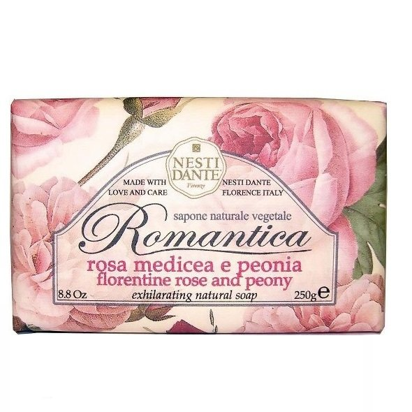 Мыло, Мыло Nesti dante romantica роза и пион