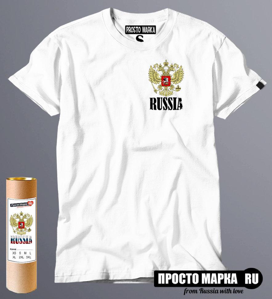 Футболка Герб России small Red