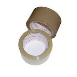 Скотч клейкая лента упаковочная 48мм*45м, 40 мкр, прозрачная, поштучная упаковка