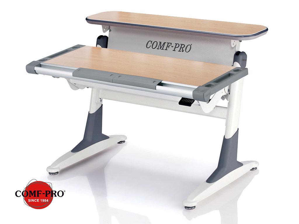 Растущая парта Comf-Pro Coho (TH-333 - столешница клен / ноги белые с серыми вставками)