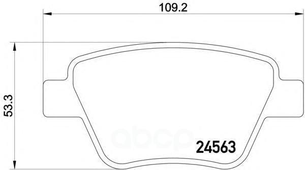 Колодки тормозные дисковые задн audi: a3 03-, a3 sportback 04-, a3 кабрио 08- seat: leon 05- skoda: octavia 04-, octavia combi 04-, superb 08-, superb универсал Textar арт. 2456301