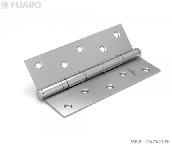 Фурнитура Fuaro (Фуаро) Петля универсальная 2BB/BL 125x75x2,5 PN (перл. никель) блистер