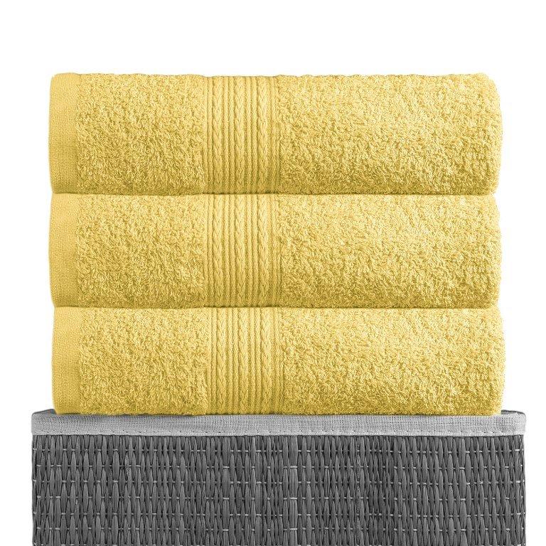 Полотенце Лимонный, ткань махра, размер 100х180 1шт., BAYRAMALY