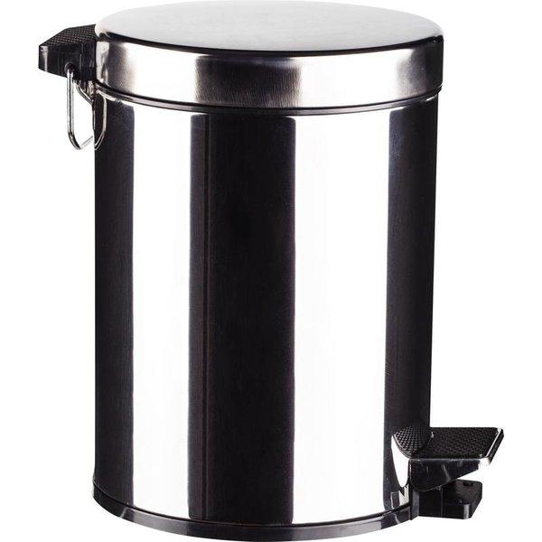 Ведро мусорное с педалью и внутренним контейнером, 5 литров