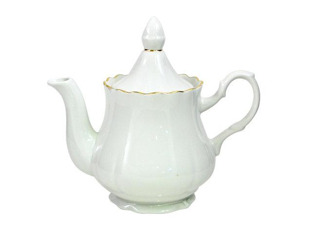 чайник зав. 800мл золотая отводка фарфор
