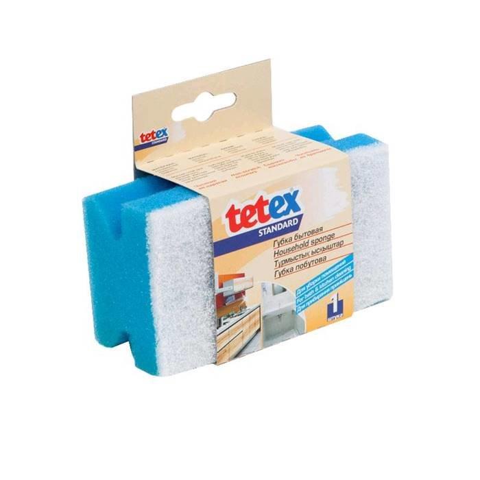 TETEX Товар для уборки 02-02-0148 Губка для уборки помещений,профиль, с полимером,120х70x50 мм, 1 шт