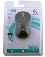 Logitech Wireless Mouse M185 Grey-Black USB