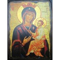 Икона Божья Матерь Скоропослушница под старину (17 х 23 см), арт IDR-559