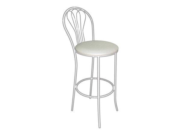 стул барный м76-01 400х410х1090мм punto white-03/хром