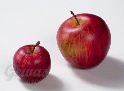 Яблоко искусственное бордово-желтое 5 см