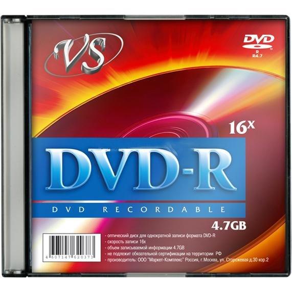 Диск VS DVD-R 4, 7 GB 16x SL