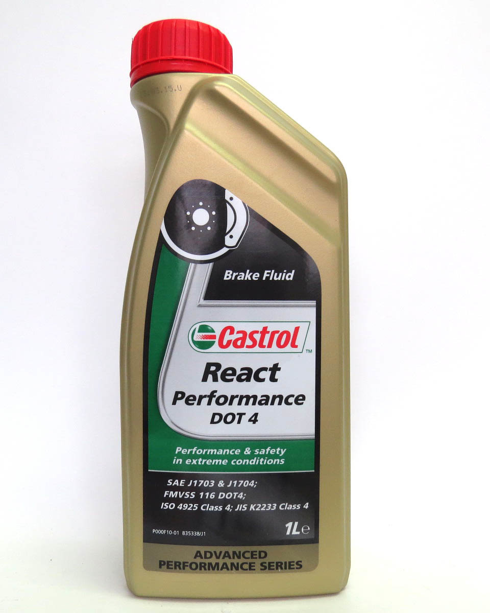 CASTROL Жидкость тормоз. React Performance DOT4 (Super) 1л