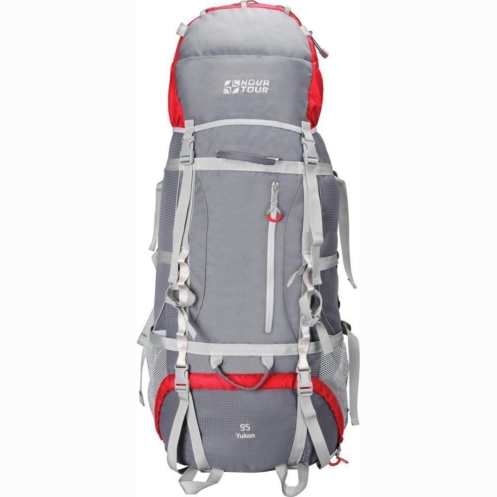 Рюкзак Nova Tour Юкон 95 V2 Серый/красный