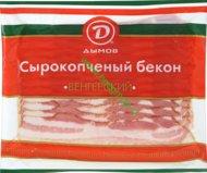 Бекон Венгерский сырокопченый Дымов нарезка 200 гр.