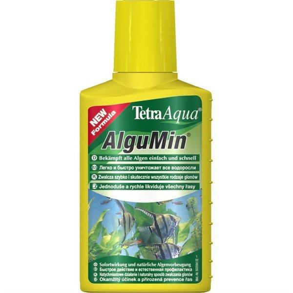 Уход за аквариумом Tetra Aqua AlguMin 770416 Препарат для предупреждения возникновения водорослей и борьбы с ними 100мл, 100гр, 100 гр