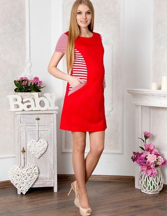 Для беременных Lucky Mum 1121 красный