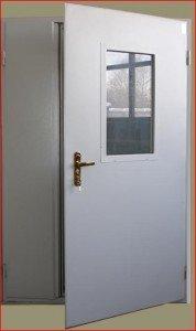 Противопожарная дверь металлическая ДПМ IE60 1550x2125 мм