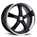 Колесные литые диски TSW JARAMA Black 8x18 5x112 ET32 D72 Чёрный глянцевый с полированным ободом и фальшболтами (1880JAR325112B72) - фото 1
