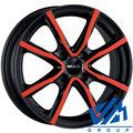 Диски MAK Milano 7x17 5/114.3 ET40 d76 Black and Red - фото 1