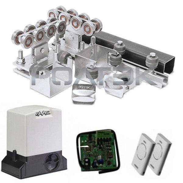 РОЛТЭК комплектующие для ворот до 500 кг + автоматика FAAC 740