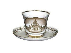 Чашка с блюдцем чайная 220 мл, Исаакиевский собор (Банкетная), Императорский фарфоровый завод (ЛФЗ) 81.14849.00.1
