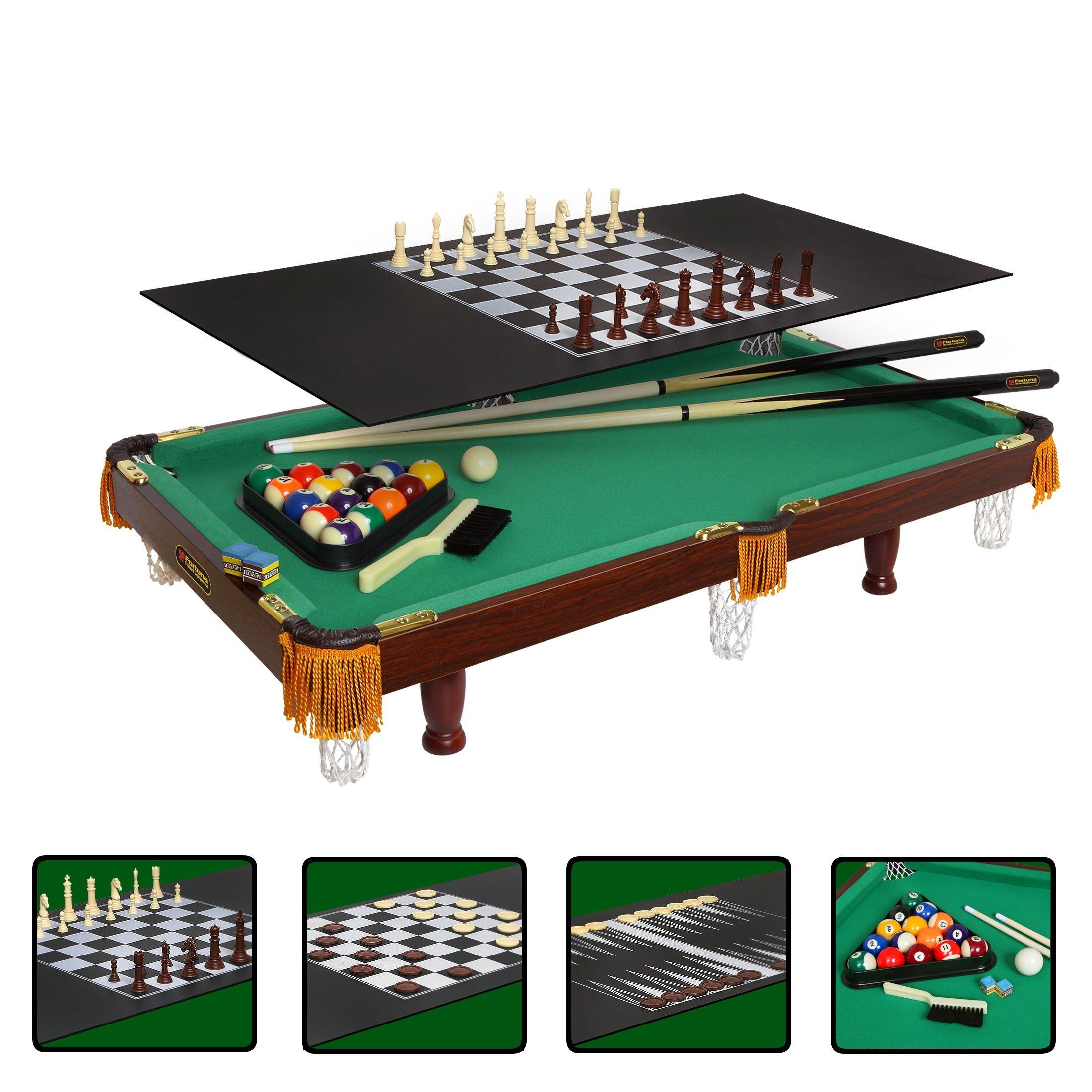 Многофункциональный стол «Fortuna - 3 Фута», 4 игры в 1 (пул)