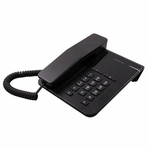 Телефон проводной Alcatel T22 чёрный