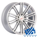 Диски 1000 Miglia MM1005 8.5x19 5/112 ET45 d66.6 Matt Silver Polished - фото 1